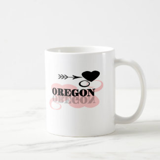 Pink Heart Oregon Coffee Mugs