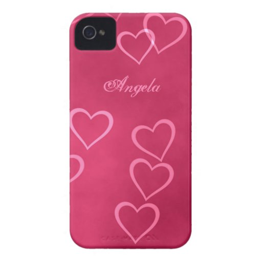 Cartoon Pink Heart Outline Pink heart outlines case-mate