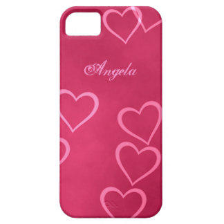 Pink heart outlines iPhone SE/5/5s case
