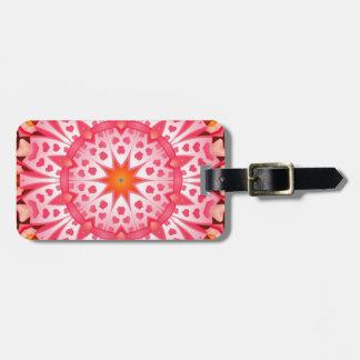 Pink heart pattern bag tag