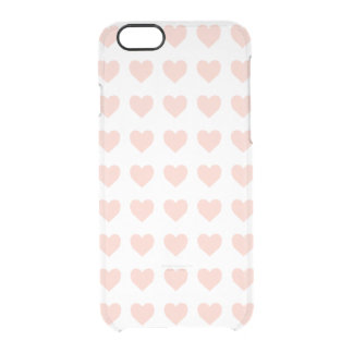 Pink heart pattern clear iPhone 6/6S case