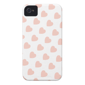 Pink Heart Pattern iPhone 4/4S Case-Mate Barely iPhone 4 Case-Mate Case