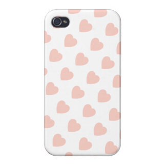 Pink Heart  Pattern iPhone 4 Case