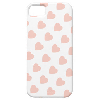 Pink Heart Pattern iPhone 5 Case-Mate Barely There iPhone SE/5/5s Case