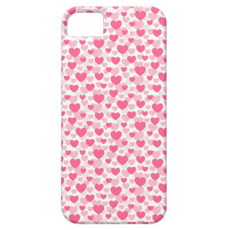 Pink heart pattern iPhone SE/5/5s case