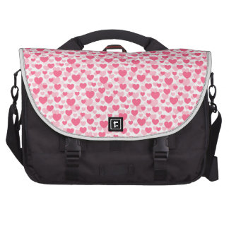 Pink heart pattern bags for laptop
