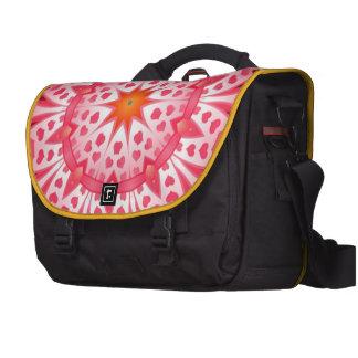 Pink heart pattern laptop bags