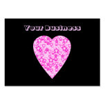 Pink Heart. Patterned Heart Design. Large Business Cards (Pack Of 100)