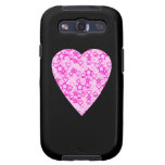 Pink Heart. Patterned Heart Design. Samsung Galaxy S3 Cases