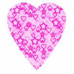Pink Heart. Patterned Heart Design. Acrylic Cut Outs