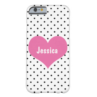 Pink Heart - Personalized Girly Name iPhone 6 Case