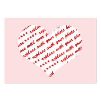 Pink Heart Photo Frame Business Card Template