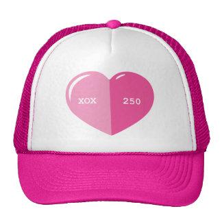 Pink Heart Pill Capsule Trucker Hat
