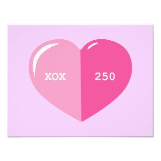Pink Heart Pill Capsule 4.25x5.5 Paper Invitation Card