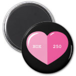 Pink Heart Pill Capsule Refrigerator Magnet