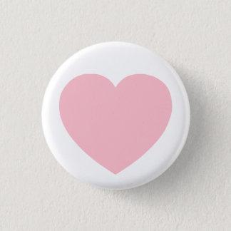 Pink Heart Pinback Button