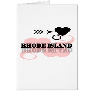 Pink Heart Rhode Island Greeting Card