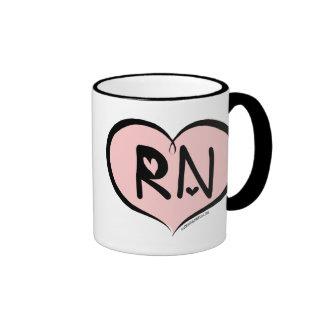 Pink Heart RN Mug
