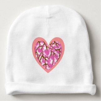 Pink Heart & Sakura Blossom Baby Cotton Beanie