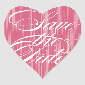 Pink Heart  |  Save the Date Envelope Seal Heart Sticker