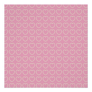 Pink Heart Scrapbook or Poster Background Texture