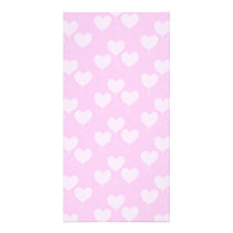 Pink Heart Shaped Balloons Pattern. Card