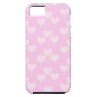 Pink Heart Shaped Balloons Pattern. iPhone SE/5/5s Case