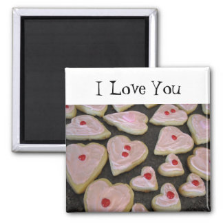 Pink Heart Shaped Cookies Magnet