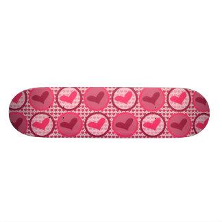 Pink Heart Skateboard