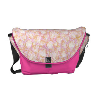 Pink Heart Sketch Messenger Bag