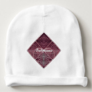 Pink Heart Some Kind of Love Abstract Personalized Baby Beanie