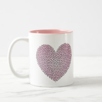 Pink Heart Stained Glass Mug
