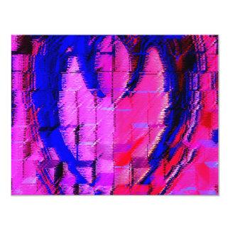 """Pink HEART - Street SMART 4.25"""" X 5.5"""" Invitation Card"""
