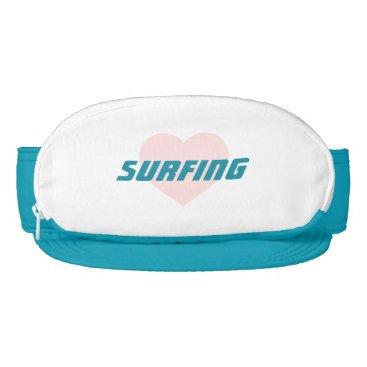 Beach Themed Pink Heart Surfing Visor