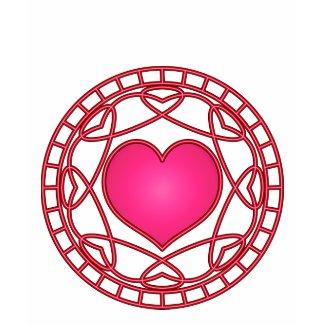 Pink Heart & Swirls Ladies' Petite T-shirt shirt