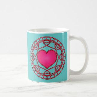 Pink Heart & Swirls Mug