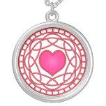 Pink Heart & Swirls Necklace