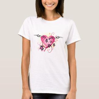 Pink Heart Tattoo T-Shirt