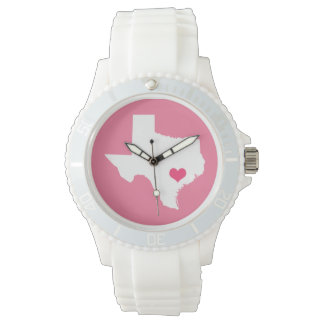 Pink Heart Texas Home State Watch