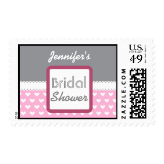 Pink Heart Themed Bridal Shower A39 Stamps