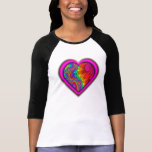 pink heart tyedye t-shirt