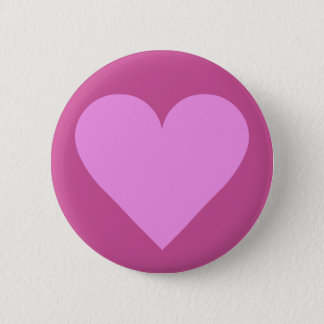 Pink Heart Valentine custom button