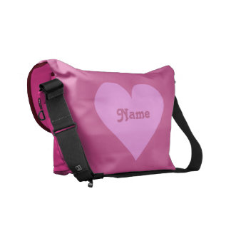 Pink Heart Valentine custom messenger bag