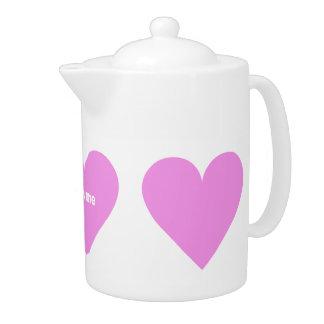 Pink Heart Valentine custom teapot