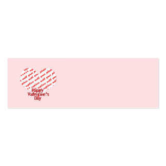 Pink Heart Valentine Photo Frame Business Card Template