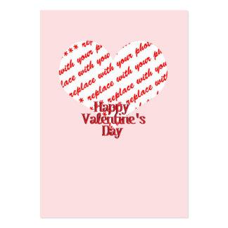 Pink Heart Valentine Photo Frame Business Card