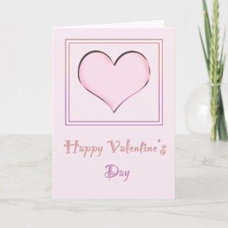 Pink Heart Valentine's Card
