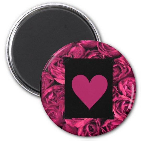 Pink Heart Valentines Magnet