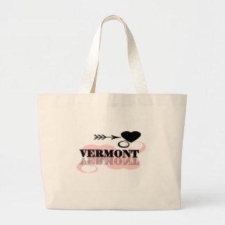 Pink Heart Vermont Canvas Bag