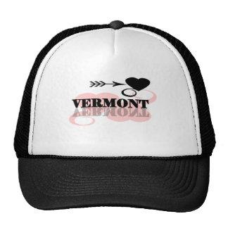 Pink Heart Vermont Trucker Hat